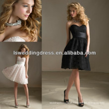 HB2025 sem mangas de renda arabe vestidos de noiva de dama de honra