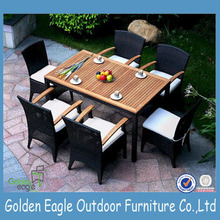 Handmade Dining Table Furniture Round Rattan Outdoor Furniture