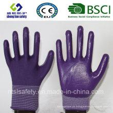 Casaco de poliéster 13G com luvas de trabalho revestidas de nitrilo (SL-N108)