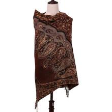 Women′s Jacquard Scarf 196*90cm Large Size Pashmina