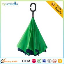2017 nouveau parapluie inversé de double couche coupe-vent à vendre