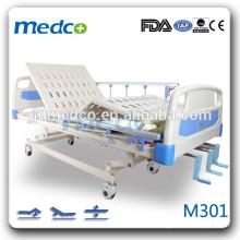 3 manivela cama de hospital barata para el paciente medicall eqipment terapia manual cama M301