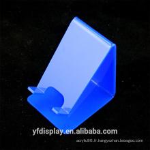 Support d'affichage de téléphone portable acrylique bleu