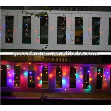 LED icicle lights for christmas decoration