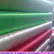 Doublure de satin de polyester de toucher doux de la main 75D * 100d en gros