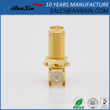 factory right angle RF PCB mount male sma connector