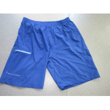 Yj-3020 Mens Blue Elastic Stretch Athletic Gym Quick Dry Shorts