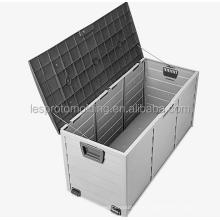 LESP-All Weather Outdoor Patio garden big Storage Deck Box Brown/Brown