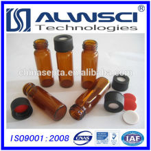 4ml amber glass screw autosampler vial with black cap