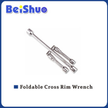 High Quality Foldable Cross Rim Wrench for Repairing