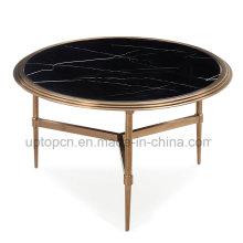 Европа Стиль черный Мраморный Круглый стол для гостиной (СП-GT446)