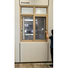 Office sliding aluminum glass window with mosquito net