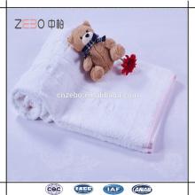 100% Baumwolle Jacquard-Stil Weiß Bad Handtücher in Bulk Economy Hotel Towels