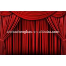 Cortinas etapa cortina del teatro de terciopelo rojo motor