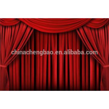 Rideaux de scène rideau de scène en velours rouge