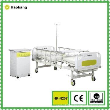 HK-N207 Cama de hospital manual de dos funciones (equipo médico, muebles del hospital)