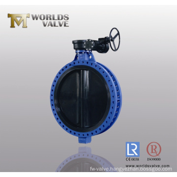 Rubber Coated Double Flanged Butterfly Valve