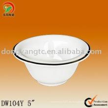 Directo de fábrica al por mayor de 5 pulgadas cuenco de cerámica apto para microondas