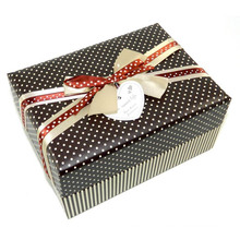 New Design Paper Gift Box with Bow for Tie & Tag
