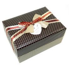 Caixa de presente de papel de design novo com arco para gravata e etiqueta