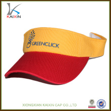 Custom made design your own logo embroidery high quality sun visor