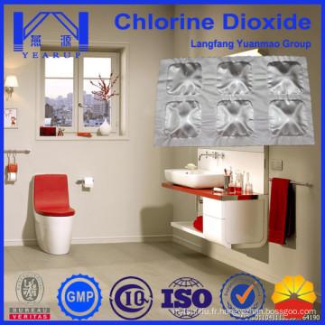 Produits de désodorisation de toilettes avec des agents de dioxyde de chlore