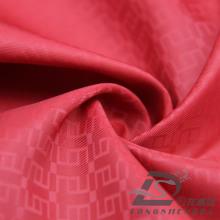 Resistente al agua y al aire libre ropa deportiva de la chaqueta tejida jacquard jacquard 100% filamento poliéster tela (53133)