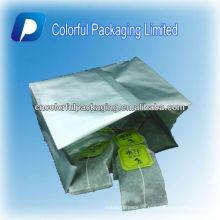Sacos de chá / sacos de empacotamento do chá vazios, sacos de chá impressos feitos sob encomenda do selo da parte traseira do reforço do Lado-gusset