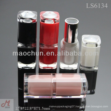 LS6134 High quality AS square clear lipstick container