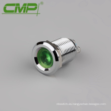 Luz indicadora IP67 a prueba de agua Chrome 12mm