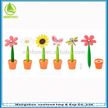 Hangzhou pen factory direct price rubber flower ball pen wholesale