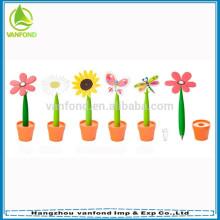 Ханчжоу перо фабрика стоимость прямого резиновые цветок шариковой ручки оптом