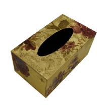 Boîte en tissu de motif feuille pour hôtel / bureau / chambre d'hôte