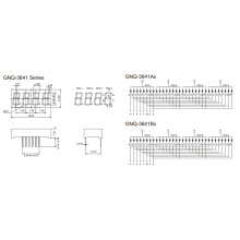 0.36 Inch 4 Digit 7 Segment Display (GNS-3641Ax-Bx)
