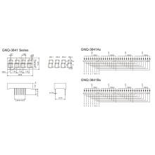 0,36 polegadas 4 dígitos 7 segmento de exibição (GNS-3641Ax-Bx)