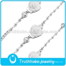 silver rosary bracelet thick chain cool style Chinese good luck bracelet jewelry
