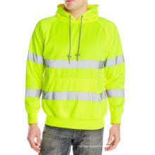 Men′s Long Sleeve Safety Hoody with Reflective Tape