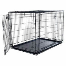 China supplier Black Powder Coated Chain link Dog kennel by factory