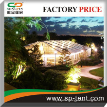 20x30m Heavy duty Transparent marquee consisting of 20x20m clearspan marquee and half an 20m decagon tent