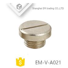 EM-V-A021 China tampa da tampa do parafuso de metal cego plug para glândula de cabo PG16 tamanhos