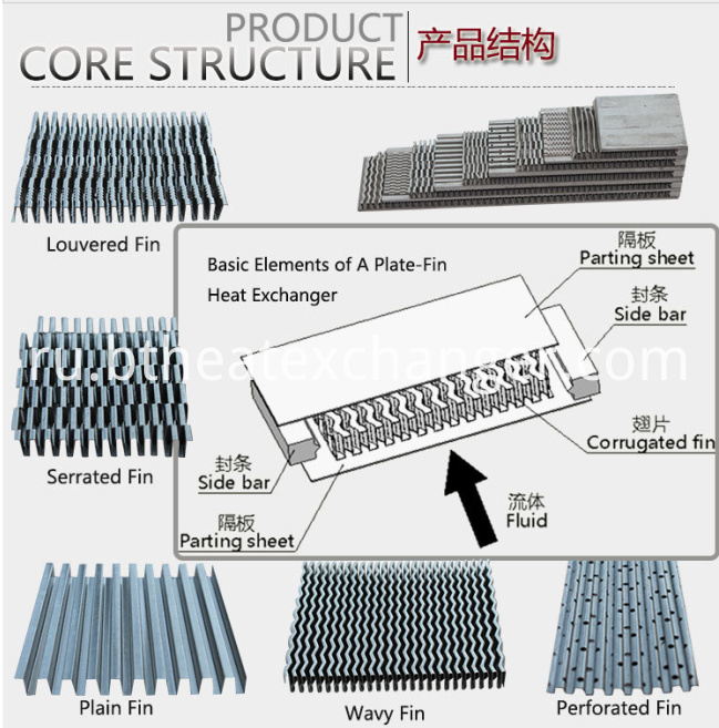 Aluminum Plate&bar Heat Exchanger Construction