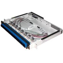 Panel de conexión de fibra de 24 puertos tipo cajón deslizante gris