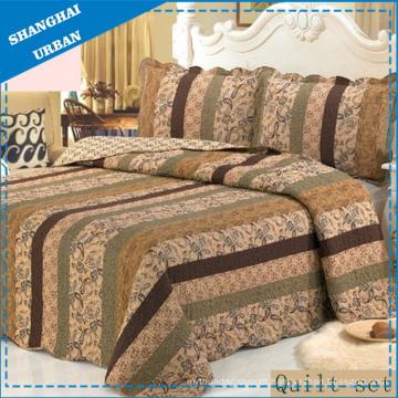 Conjunto de colcha e edredão de retalhos de cama