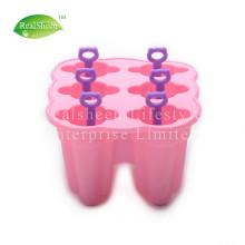 6 Stück Silikon Popsicle Formen mit Stöcken