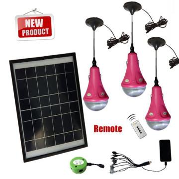 Mini solar lighting system 3/6/9/12/15W solar light kits for home for Africa