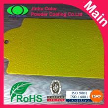 Leuchtend gelben gelben markanten markenfarben pulverlacken