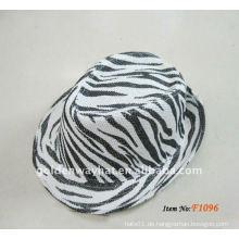 Mode billig Papier Fedora Hüte neue Zebra-Streifen Party Hut