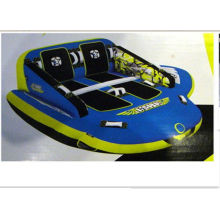 Double Seats Pvc Water Towable Tube With Nylon Cover For Drifting