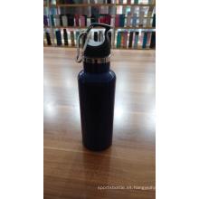 Botella deportiva de vacío de color sólido de acero inoxidable de 480 ml
