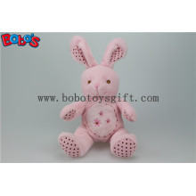 """8.3"""" Pink Softest Stuffed Bunny Animal with Embroidery Chest for Baby Bos1153"""